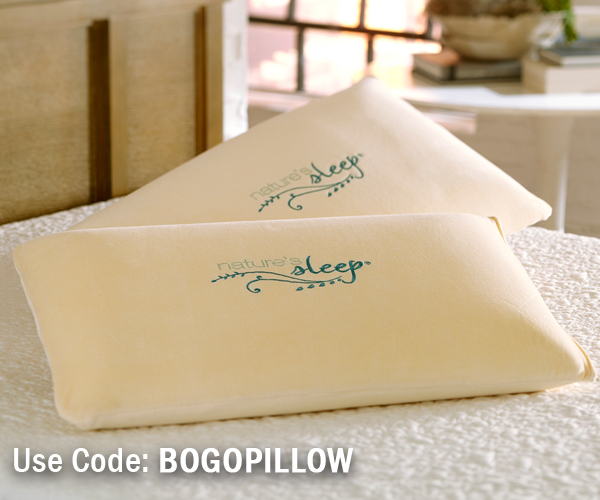Nature's Sleep BOGO Pillow coupon code