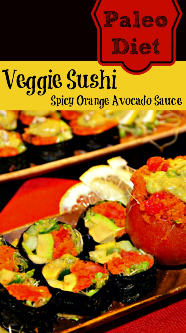 Paleo Diet Veggie Sushi Recipe