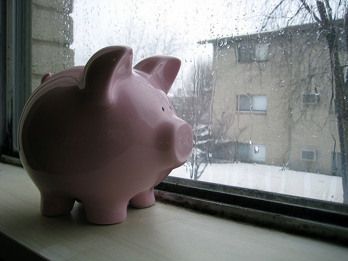 rainy day piggy bank