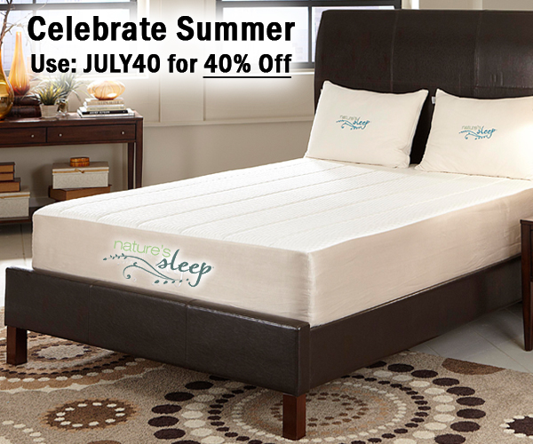 Nature's Sleep JULY40 Sale