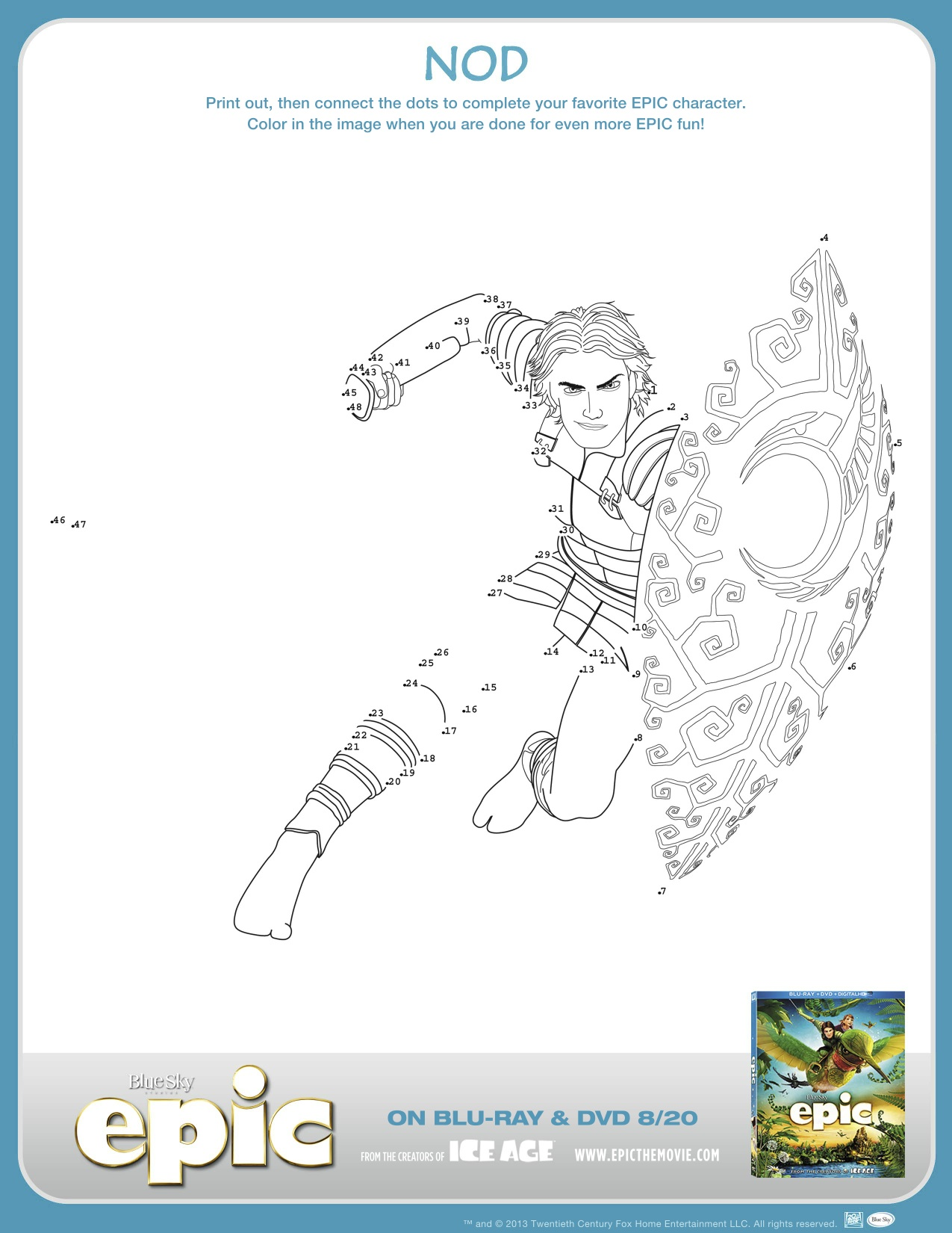 New Epic Assets Activity Sheets Bookmarks Coloring Pages