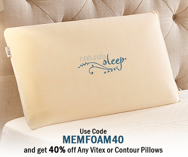 Natures Sleep Is Having A Sale on Vitex Memory Foam Pillows