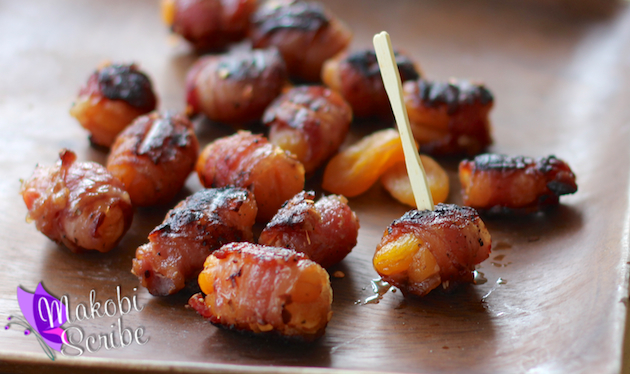 Apricot wrapped bacon recipe