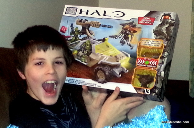 Boys Love Building With The Mega Blocks Halo Sets