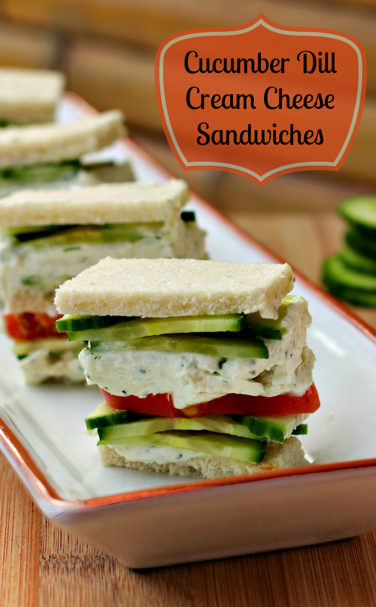 Tailgating? Try The Cucumber Dill Cream Cheese Sandwiches