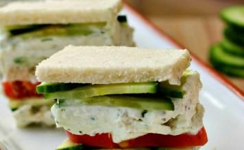 Cucumber Dill Cream cheese sandwiches Recipe
