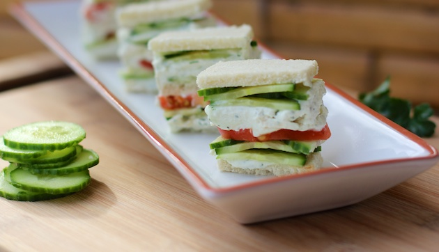 Cucumber Dill Cream cheese sandwiches