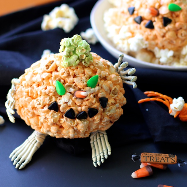 Trick Or Treat Halloween Popcorn Pumpkin Balls