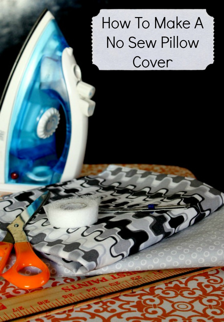 Easy No Sew Pillow Covers Tutorial