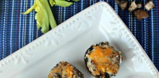 Sausage And Cheese Stuffed Mushrooms Recipe #MushroomMakover