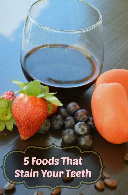 five foods that stain your teeth