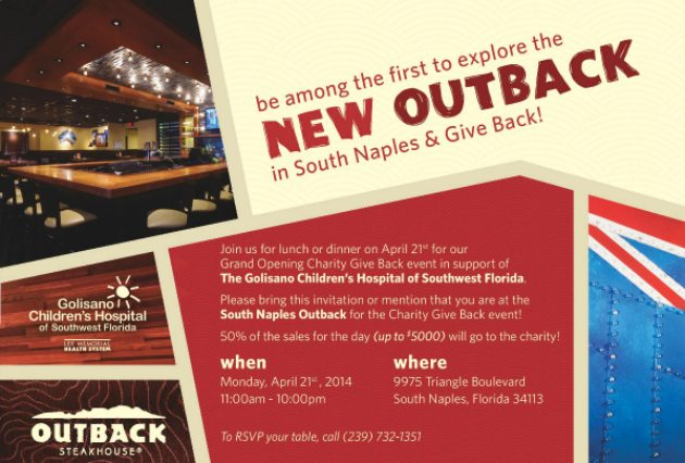 You're Invited- Outback Steakhouse Grand Opening In South Naples #OutbackBestMates