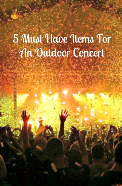 5 Must Have Items For An Outdoor Concert Pin