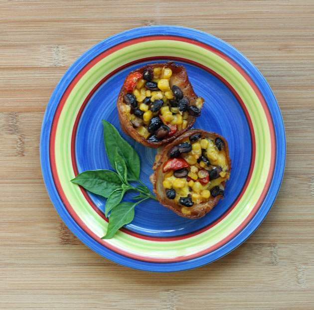 Southwestern Bacon Egg Cups Recipe #CansGetYouCooking