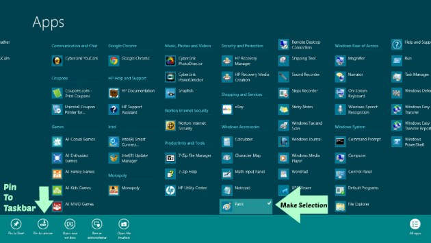 How to use windows 8 in desktop mode Pin