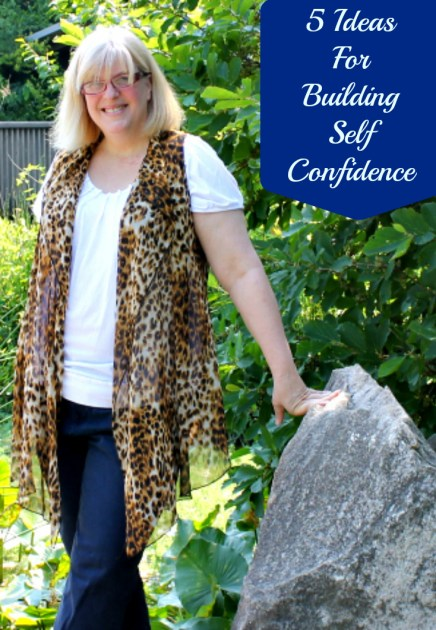 5 ideas for building self confidence pin