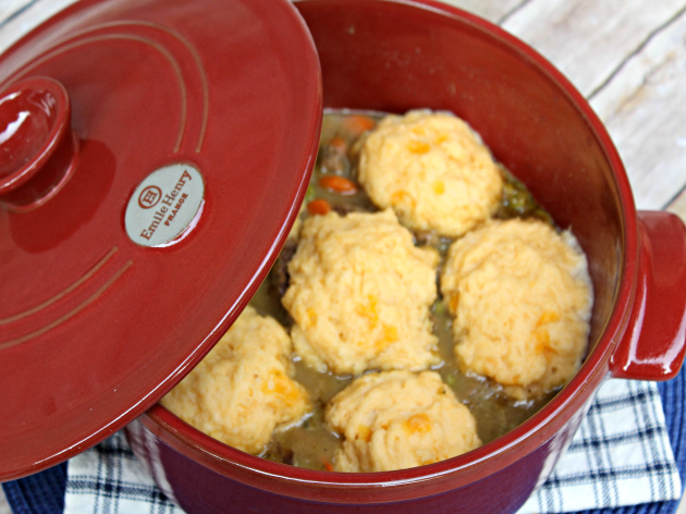 Beef Stew With Cheese Dumplings