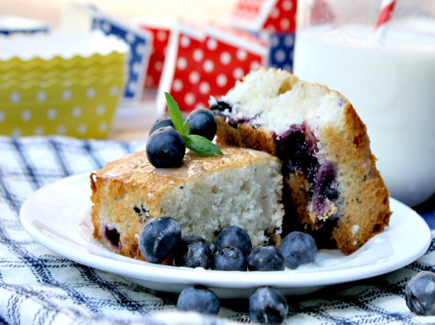 Lemon Blueberry White Cake Recipe