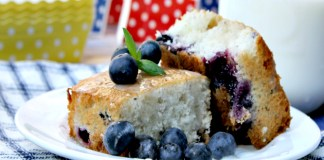 Lemon Blueberry White Cake