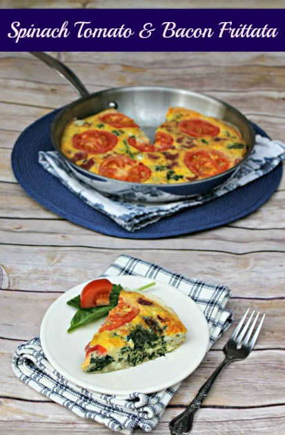 Spinach Tomato And Bacon Frittata pin5