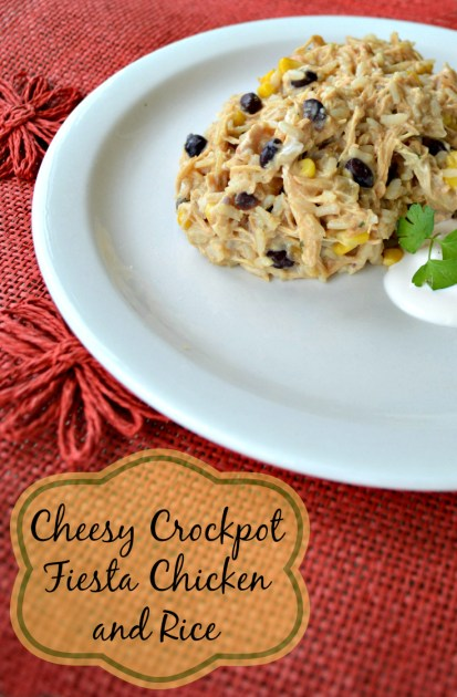 cheesy crockpot fiesta chicken recipe is a great slow cooker recipe