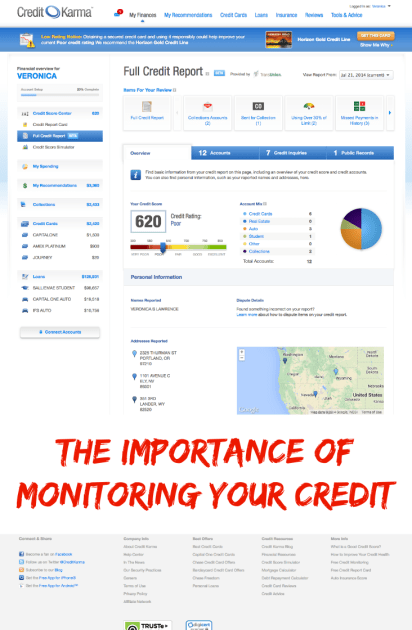 importance of monitoring your credit
