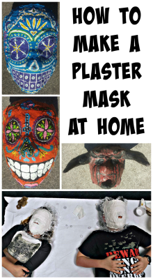 Plaster Mask Kids Pin