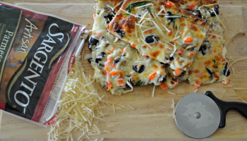 Thin Crust Cheese and Veggie Pizza Recipe cooked