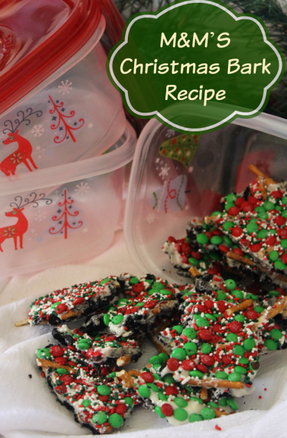 M&M'S Christmas Bark Recipe Pin