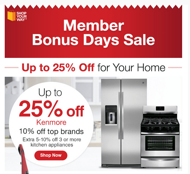 Save Big With The Shop Your Way Member Bonus Day