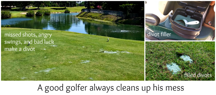 the mystery of divots explained