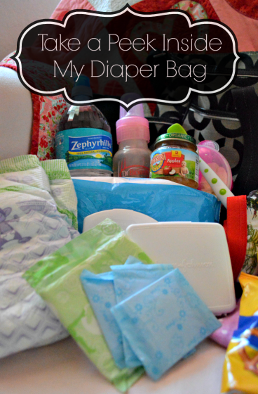 mom essentials in my diaper bag
