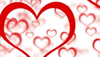 Red Hearts Background Showing Romance Love And Valentine