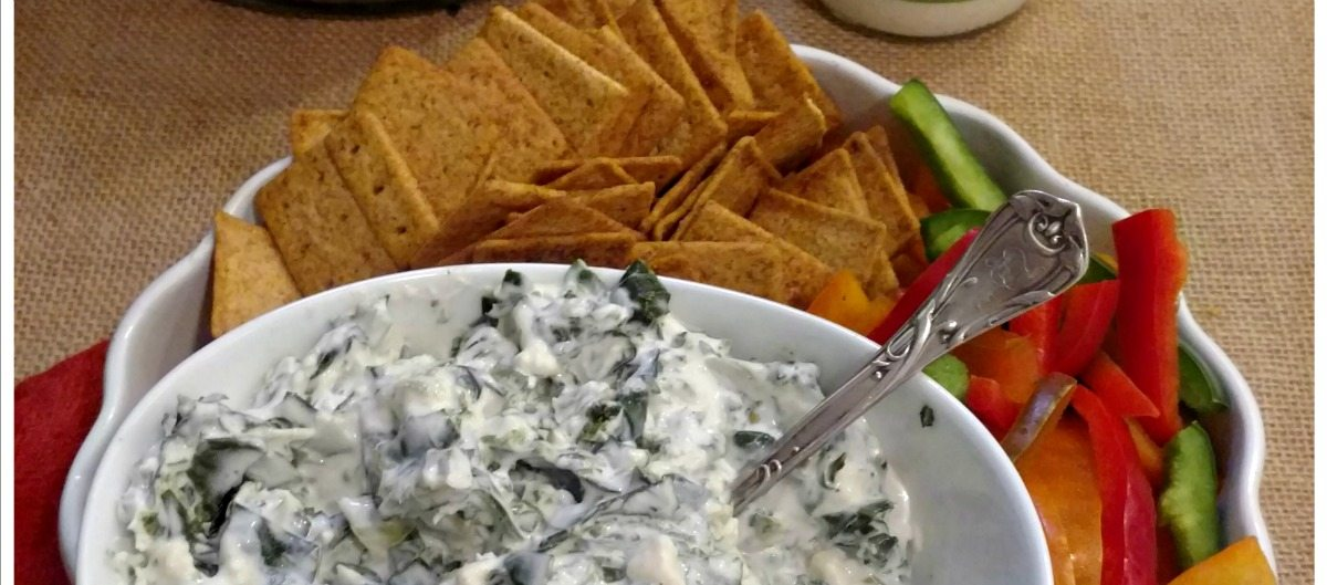 Colored Greens Chip Dip