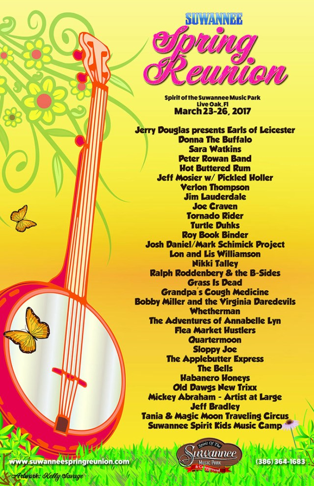 Suwannee spring music campground spring reunion line up