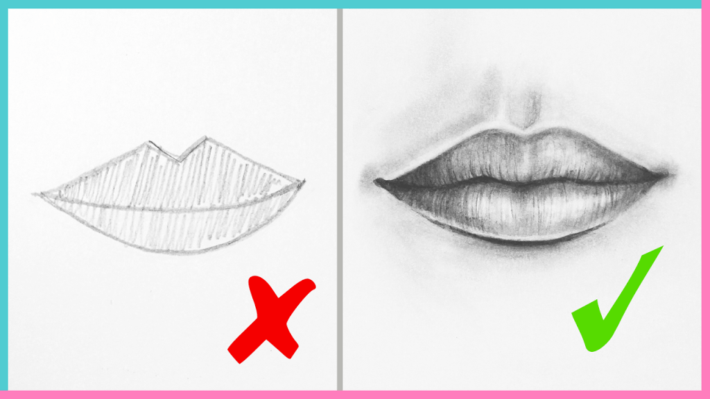 DOs & DON'Ts: How to Draw Realistic Lips & the Mouth Step ...