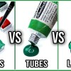 difference between watercolor pans tubes liquid makoccino
