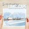 paint snowy landscape