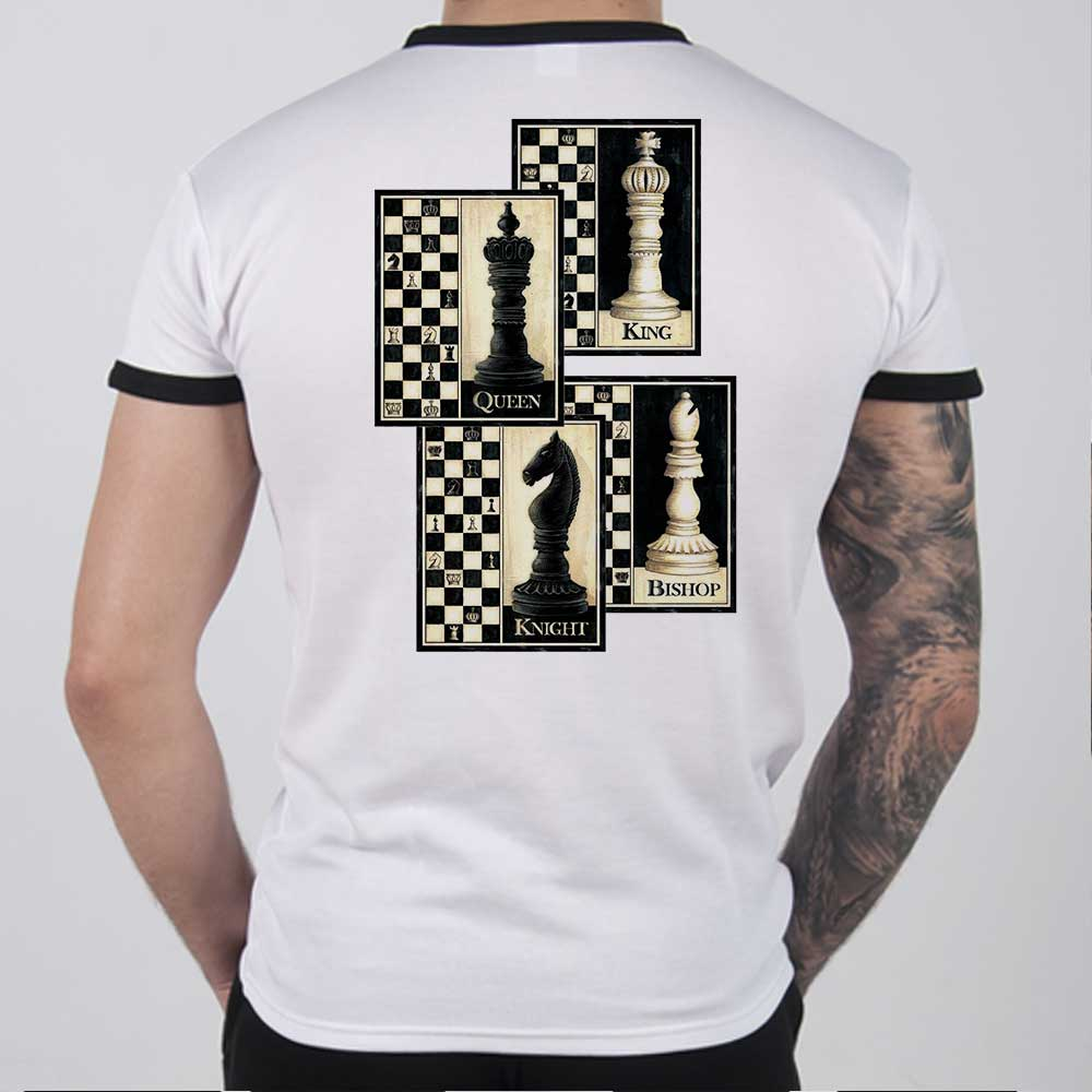 2c67c234 Chess Ringer Shirts RNCH05 with cool Chess painting King – Makos Sport