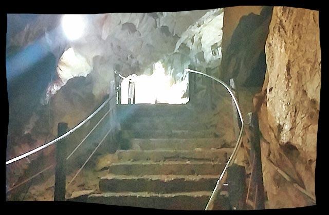 階段を進む