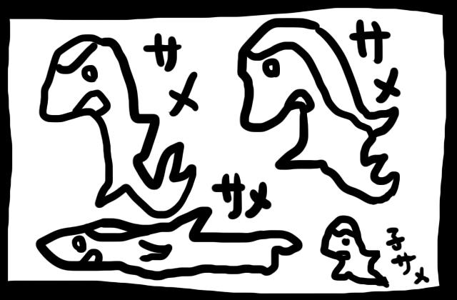 いっぱいサメを描いたやつ