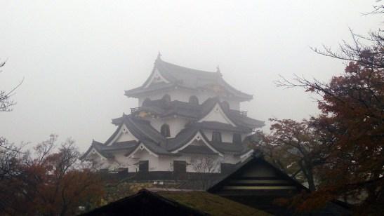 彦根城の敷地内から見た城01