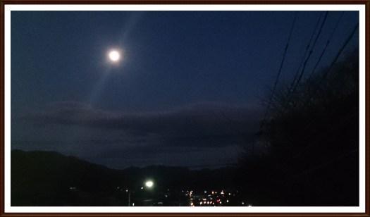 スーパームーン前日に小山から撮影05