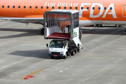 名古屋飛行場のパッセンジャーステップ車
