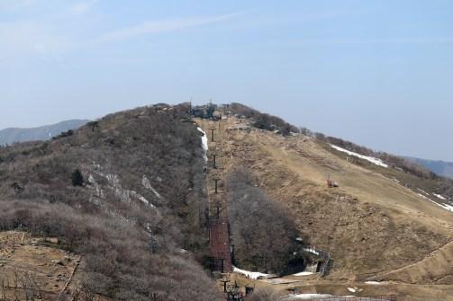 御在所7の山上駅から山頂の方向を撮影