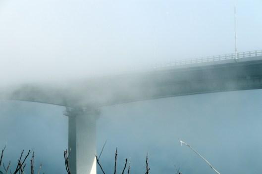 道の駅うずしお1-2の濃霧の光景
