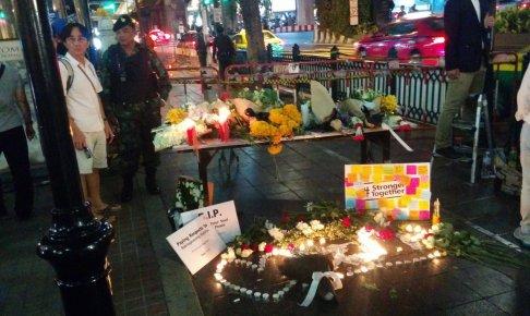 バンコクの爆弾テロ現場、24時間後の様子