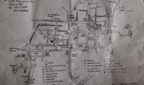ナンNan の地図とバス時刻表