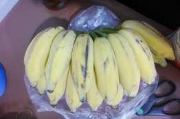 バナナ40バーツ。甘い小粒