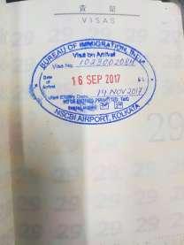 Visa on Arrival 成功